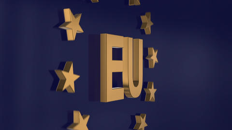 Elegant Gloden EU 3d Animation 11787 stock footage