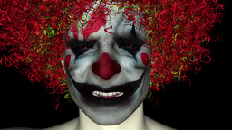 scary clown grimaces Animation