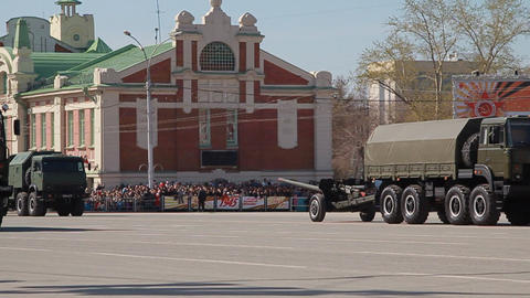 display of military equipment. holiday, Victory Day Footage