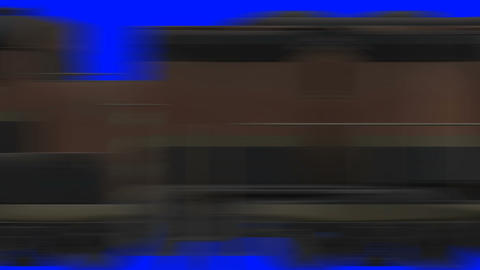 Train Passing Fast on a Blue Screen Footage