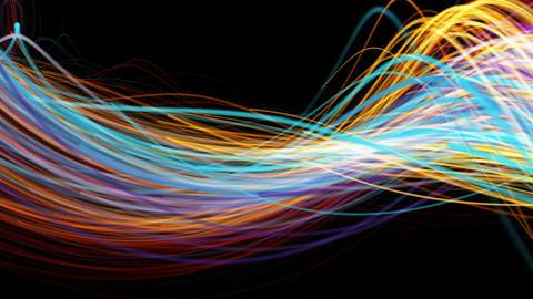 Minimalist flowing streaks of light background Image