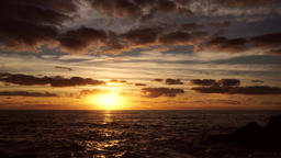 Delightful sunset scene over the ocean, real time Footage