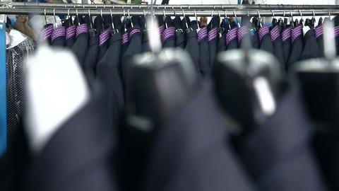Men's suit at tailor's workshop Live Action