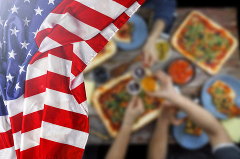American flag, Independence Day, barbecue, Celebration, outdoors フォト