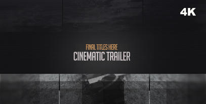 Cinematic Trailer in 4K After Effects Template