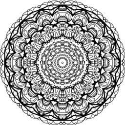 Flower Mandala. Vintage decorative elements Vector