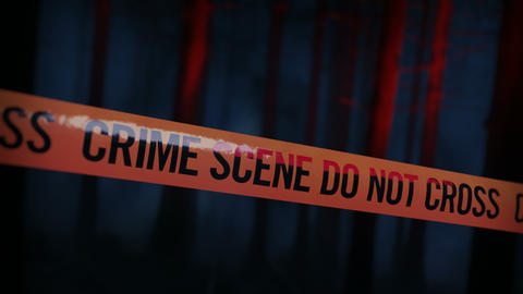 Crime Scene Police Tape Loop 02 Animation