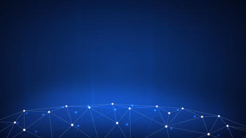 Blockchain technology futuristic hud background Footage