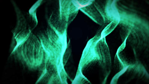 Abstract Green Waves Background GIF