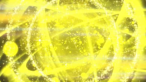 キラキラ爆発エフェクト - イエロー/黒背景 CG動画