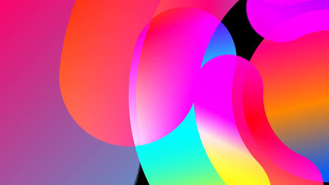 Abstraction with round colorful elements, 3d rendering backdrop, computer Footage