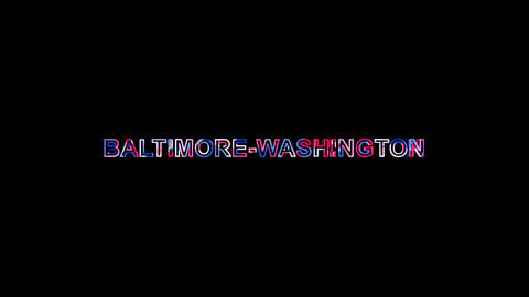 Letters are collected in International Airport BALTIMORE-WASHINGTON, then Animation