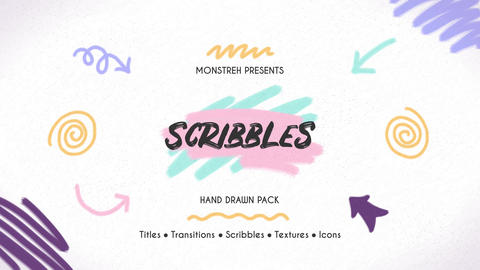Scribbles Hand Drawn Pack After Effects Template