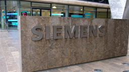 Munich / Germany - February 16 2018 : The new Siemens headquarter building is Footage