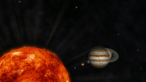 Digital Animation of the Solar System CG動画素材