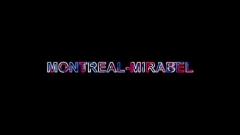 Letters are collected in International Airport MONTREAL-MIRABEL, then scattered Animation