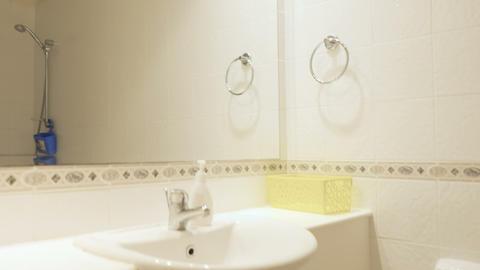 Stylish white bathroom Live Action