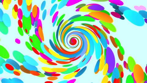 Vortex of Colors VJ Loop Abstract Motion Background V5 Stock Video Footage