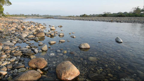 Murti river, Dooars, West Bengal, India Footage