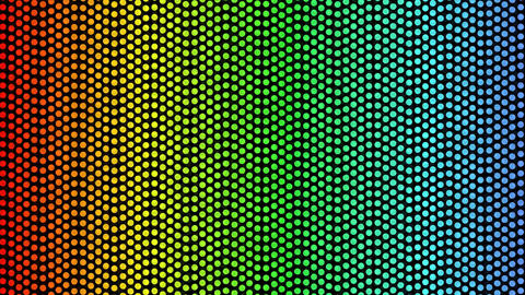 Flowing dots in rainbow colors on black background.... Stock Video Footage