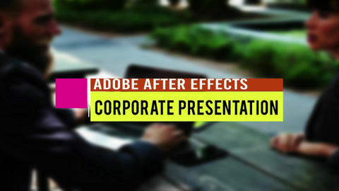 Presentation Titles After Effectsテンプレート