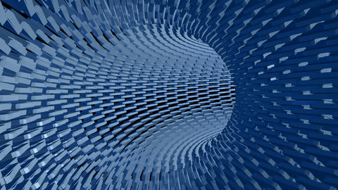 Blue Tunnel loop motion abstract geometric Animation