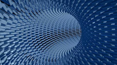 Blue Tunnel loop motion abstract geometric CG動画素材
