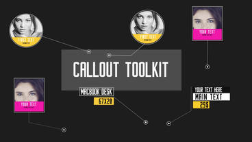 Callout Title Toolkit - After Effect After Effects Template
