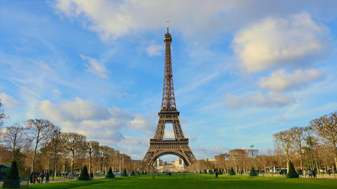 Eiffel Tower-Paris-France-Time Lapse, Europe Footage
