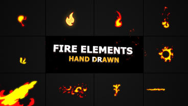 Flash FX FIRE Elements Premiere Pro Template