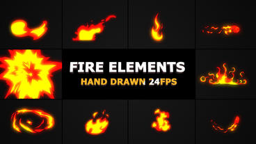 Hand Drawn FIRE Elements Premiere Pro Template