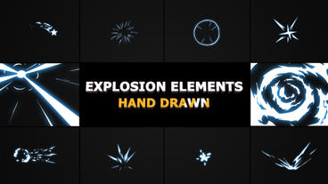 Hand Drawn Explosion Elements And Transitions Premiere Proテンプレート