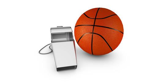 Whistle and basketball Animation