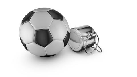 Whistle and soccer ball Image
