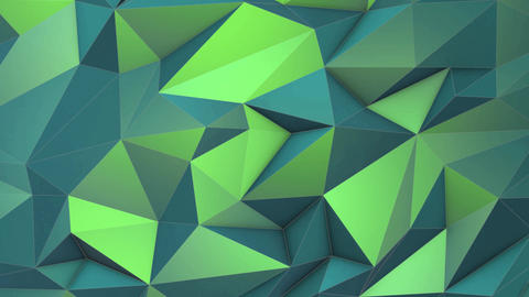 Green abstract low poly triangle background Animation