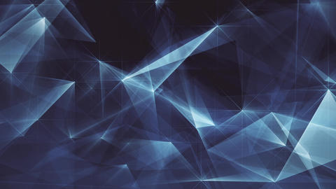 Abstract Dark Blue Glowing Edges FHD CG動画素材
