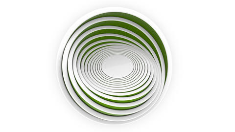Green hemispheres or bowls fit each other. 3D design, various size or plastic Footage