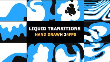 Funny Liquid Transitions Premiere Pro 템플릿