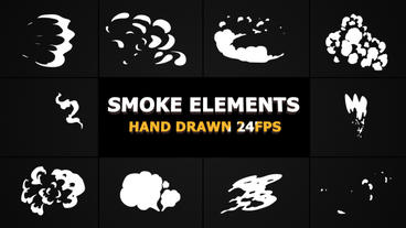 2d FX SMOKE Elements 24 fps Premiere Pro Template