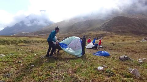 Tent Pitch Pindari Base Camp A ビデオ