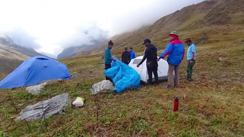 Tent Pitch Pindari Base Camp B Footage