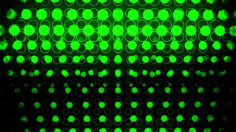 Green Glowing Neon Circles Abstract Motion Background VJ Loop Animation