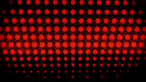 Red Glowing Neon Circles Abstract Motion Background VJ Loop Animation