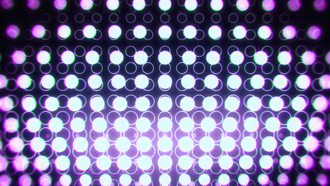 White Purple Glowing Neon Circles Abstract Motion Background VJ Loop Animation
