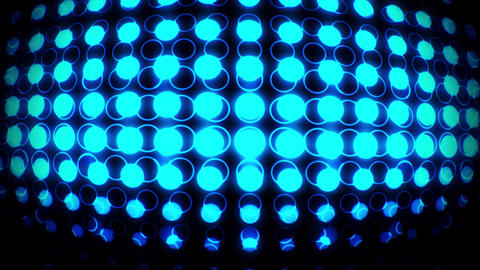 Blue Glowing Neon Circles with Lens Distortion Background VJ Loop Animation