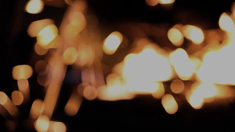 Grinding sparks with bokeh effects Footage