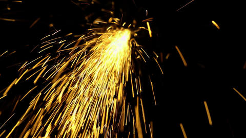 Welding sparks particles golden color Live Action