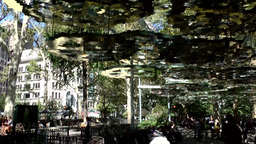New York City 522 artful canopy over the walkway in Madison Square Park Footage
