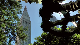 New York City 526 Metropolitan Life Tower seen from Madison Square Park Footage