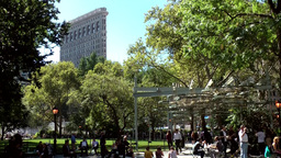 New York City 529 Madison Square Park and Flatiron Building Footage
